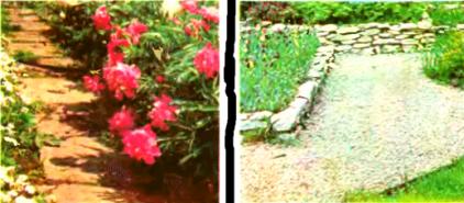 Оформление садовых дорожек
